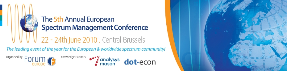 The 5th Annual European Spectrum Management Conference 2010
