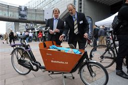 Cargo bikes on show at the exhibition