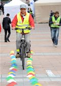 European Parliament Mobility Point offer activities to perfect cycling skills