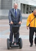 Malcolm Harbour, MEP, on the Segway