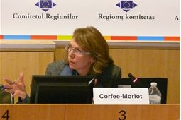 Jan Corfee-Morlot, OECD gives her opinion in Roundtable Discussion