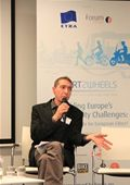 Peter Staelens, Eurocities, sits on the second panel discussion of the afternoon debate