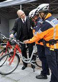 Police inspect DB's bicycles