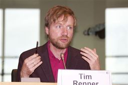 Tim Renner in the first panel discussion